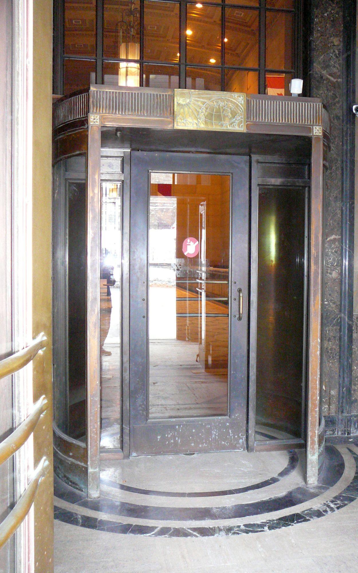Detail of New Bronze Door Insert Inside Wellington Vestibule Drum