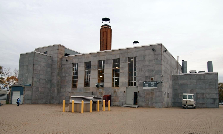 Southwest corner of the building