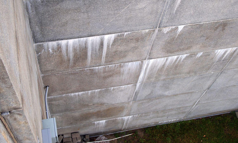 Detail of granite panel cladding