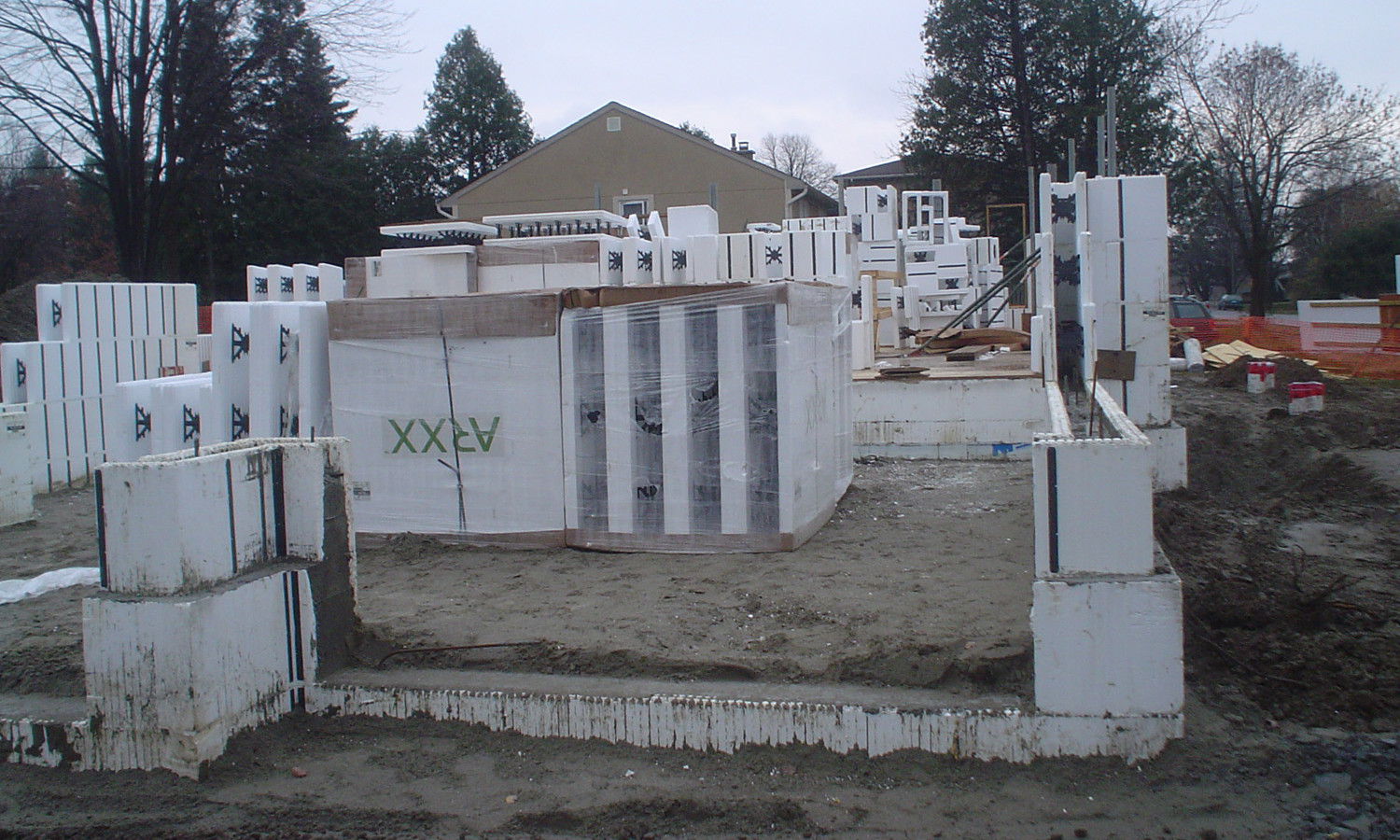 Construction Image of South Side of House