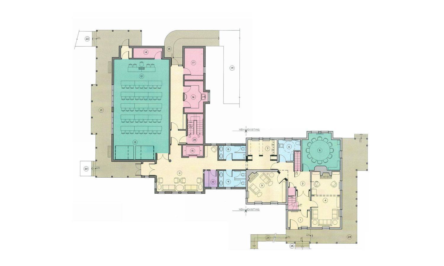 Proposed Adaptive Reuse Floor Plan with Addition