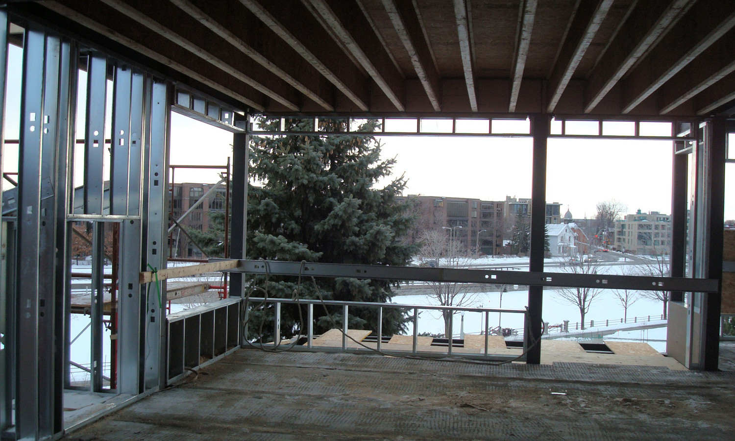 View of Rideau Canal from One of the Units, Under Construction