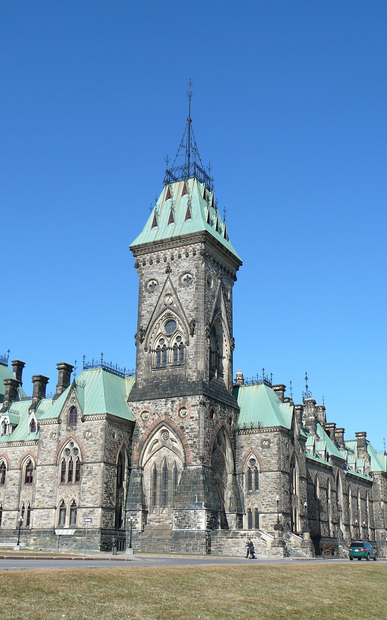 View of East Block, South West Tower from Southwest