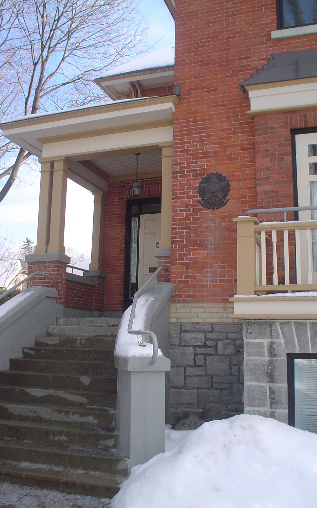 Exterior Detail of Entry Porch