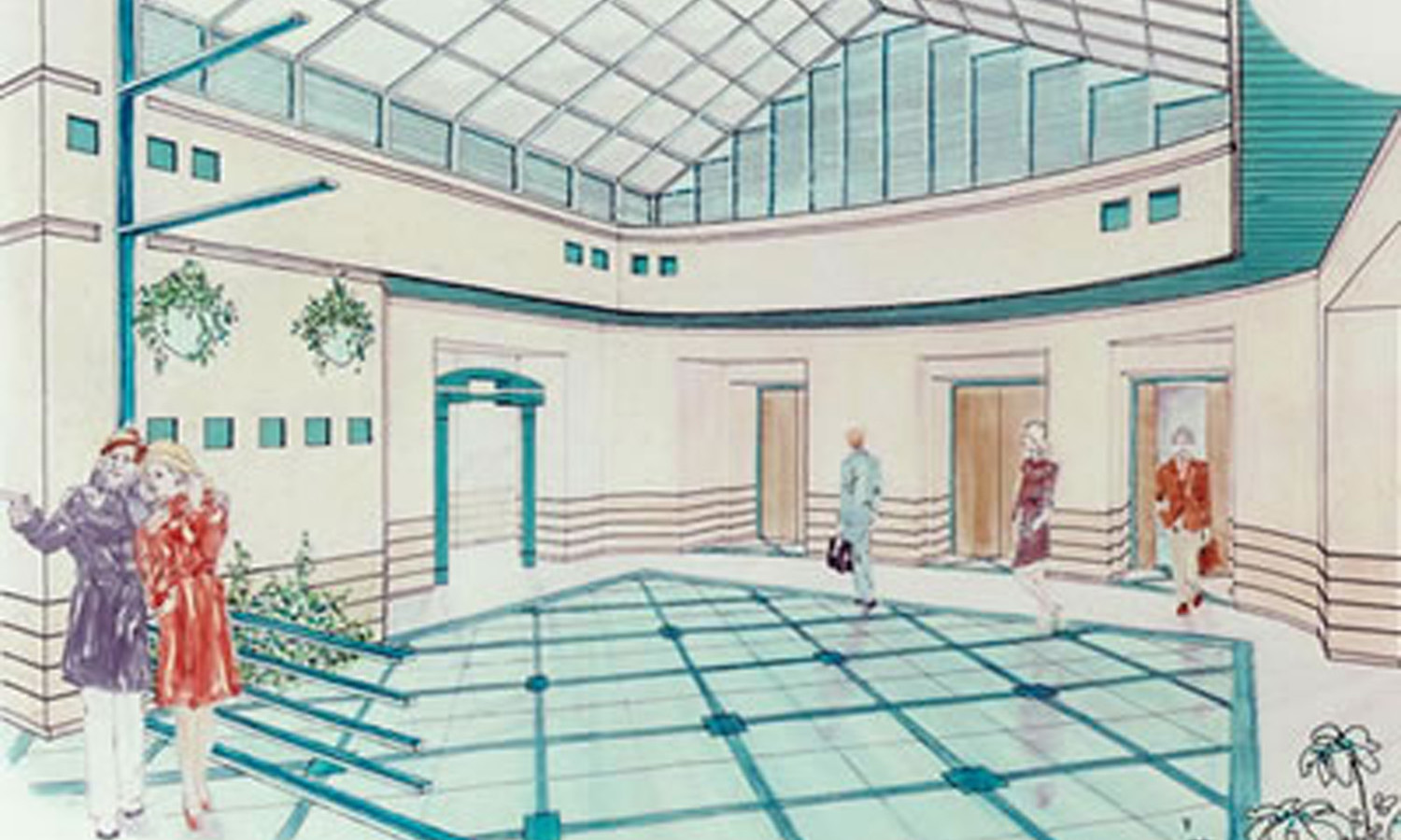Rendered Perspective of the St.George's Entry Lobby