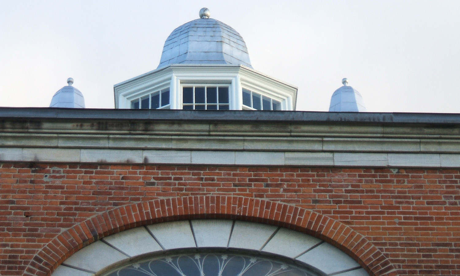 Detail of Original Fan Light and Cupolas