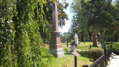 The grave marker of Sir John A. Macdonald