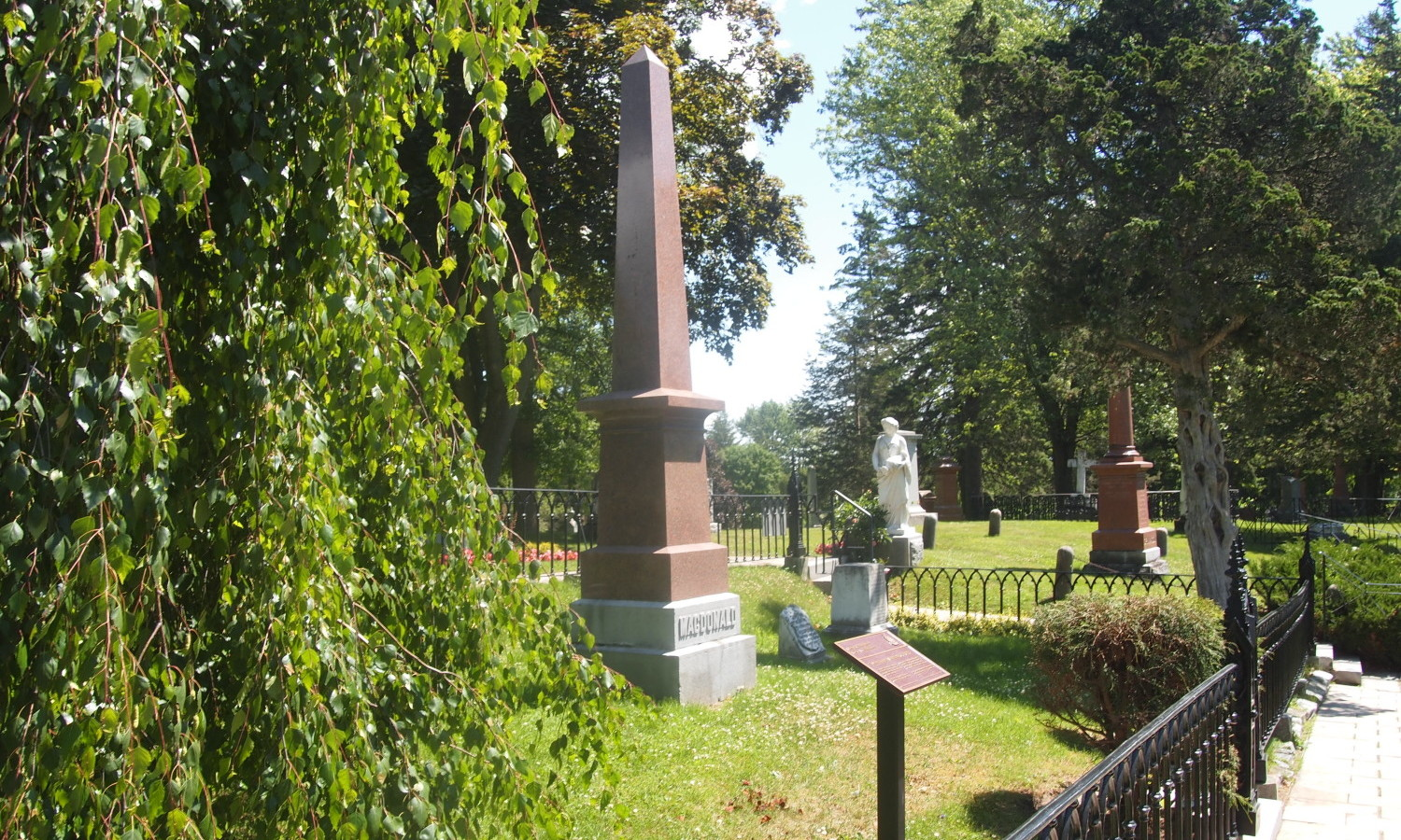 The grave marker of Sir John A. Macdonald
