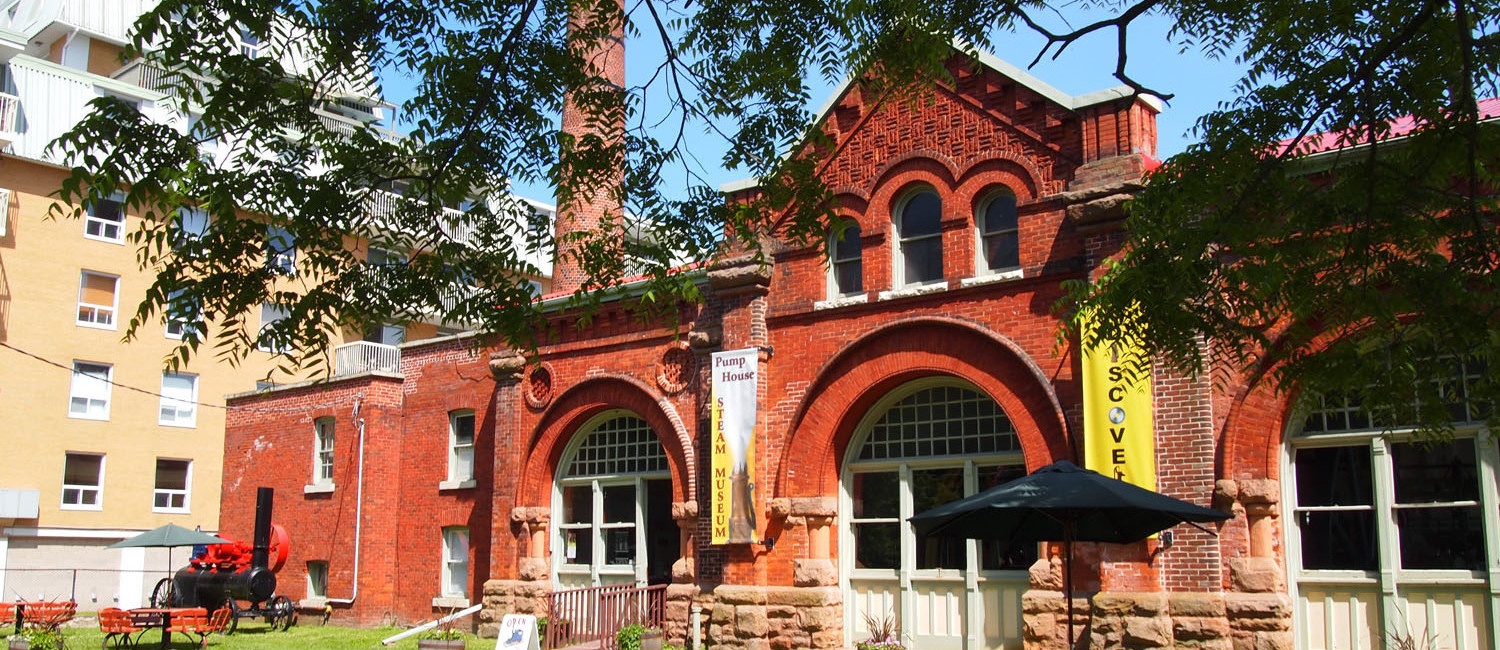 Pump House Steam Museum, Front Elevation from Ontario Street