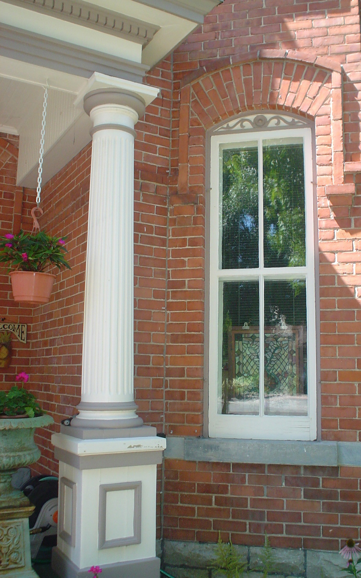 Detail of Windows and Front Porch Support Column