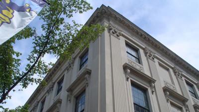 Cass Gilbert Building Exterior Stone Work Detail of Northwest Corner