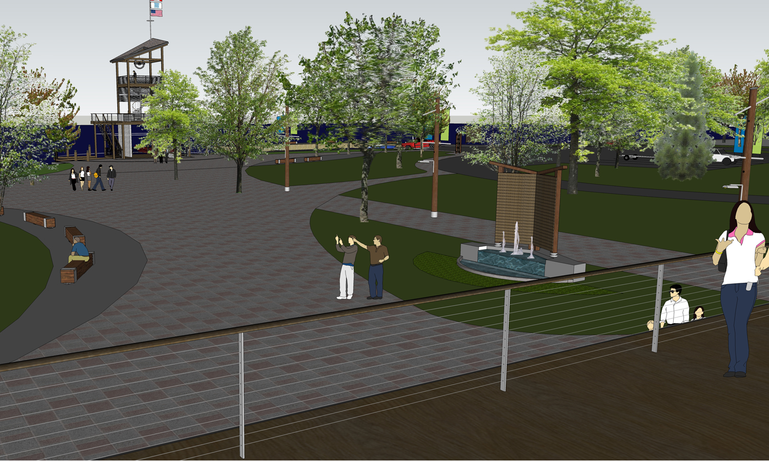 Morrisburg Waterfront Plaza - View from Roof Top Area at Welcome Centre Building
