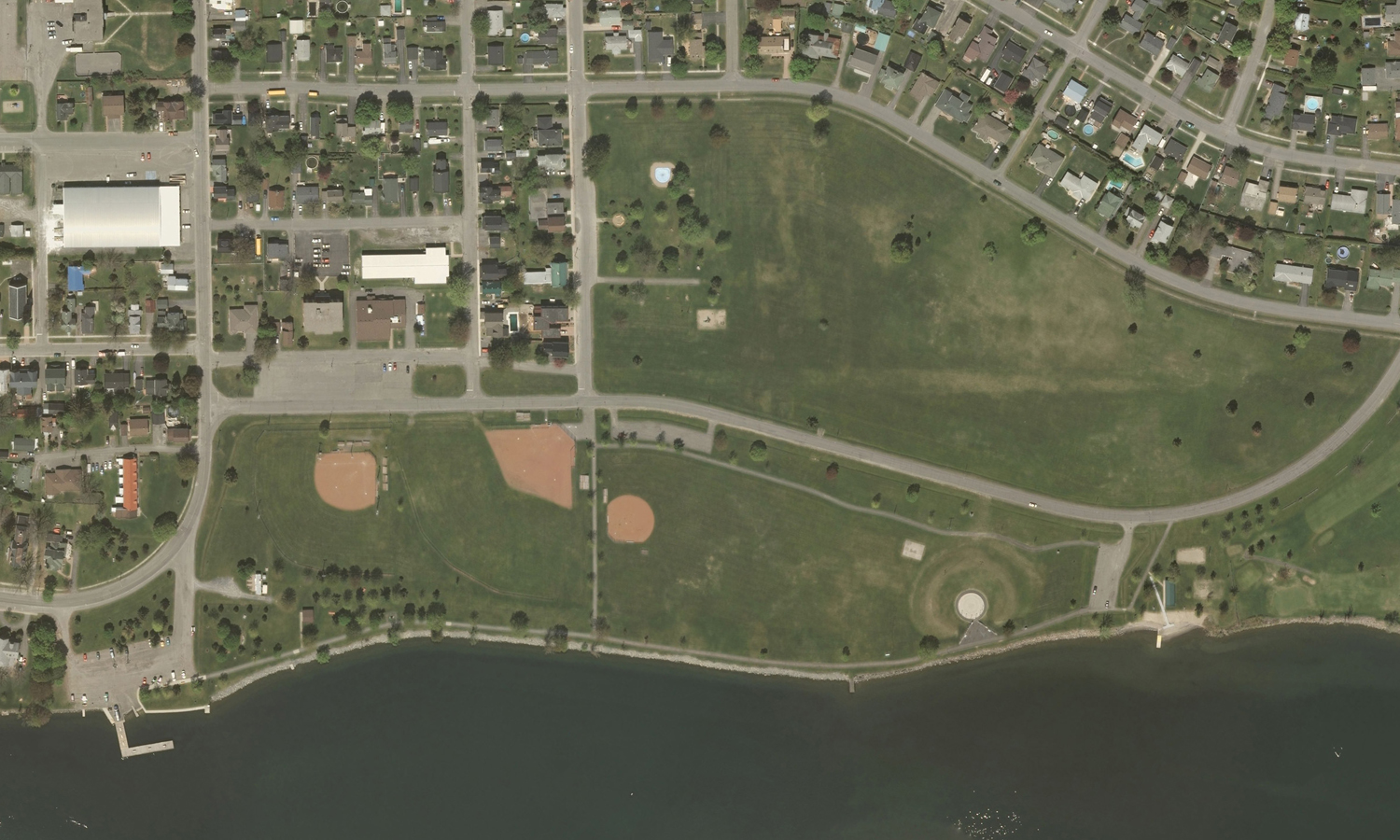 Morrisburg Waterfront Park - Existing Condition (Source: Digital Raster Acquisition Project for the East - Orthophotos Orthophotography © Aéro-Photo -1961- inc. 2008.)