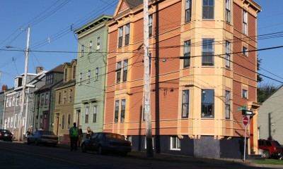 Compact urban form providing more efficient heating and increased density, Halifax (image source: Shelley Bruce)